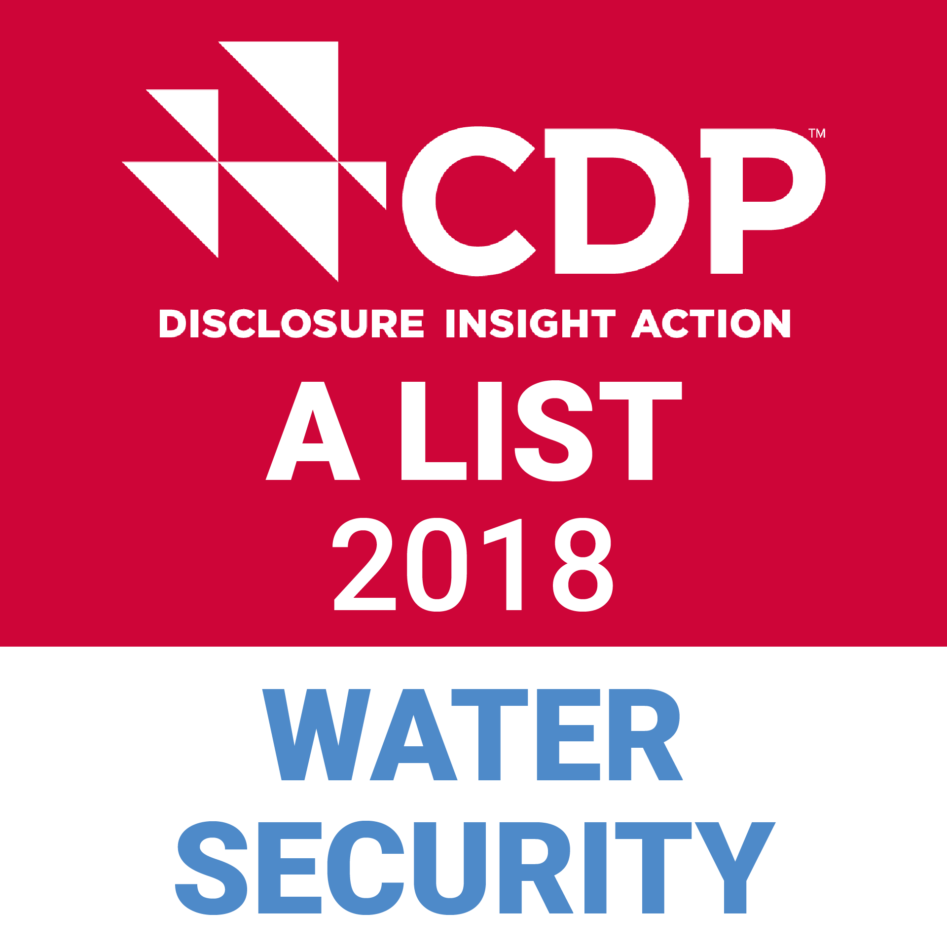 CDP Water Security A List Logo