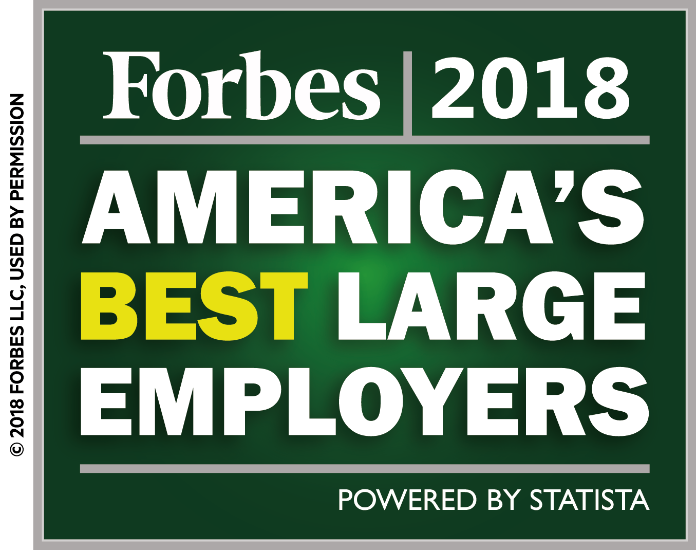 Forbes 2018 Americas Best Large Employers Logo