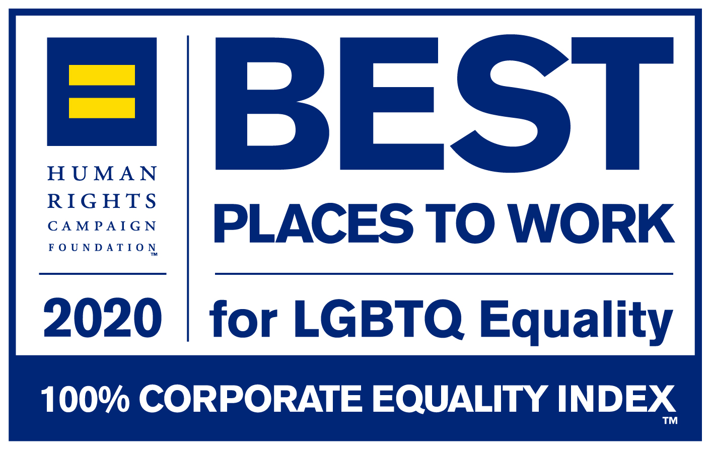 Human Rights Campaign Corporate Equality Index Best Places to Work for LGBTQ Equality award