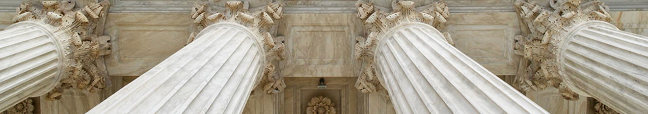 Columns on government building