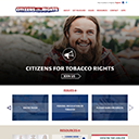 Citizens For Tobacco Rights website screenshot