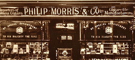 vintage photo of philip morris shop on london's bond street
