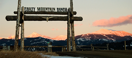entrance to crazy mountain ranch