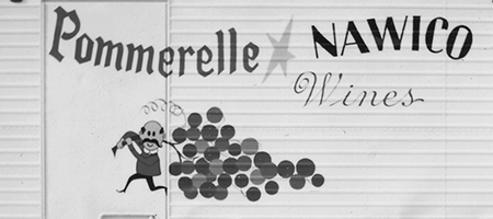 detail from vintage pommerelle/nawico truck
