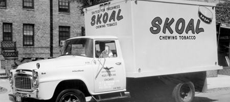 vintage photo of skoal truck