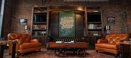 interior of the original snuff shop in nashville