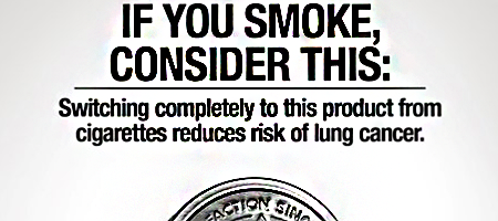 detail of proposed copenhagen snuff fine cut modified risk communication