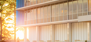 architectural detail of altria headquarters building at sunrise