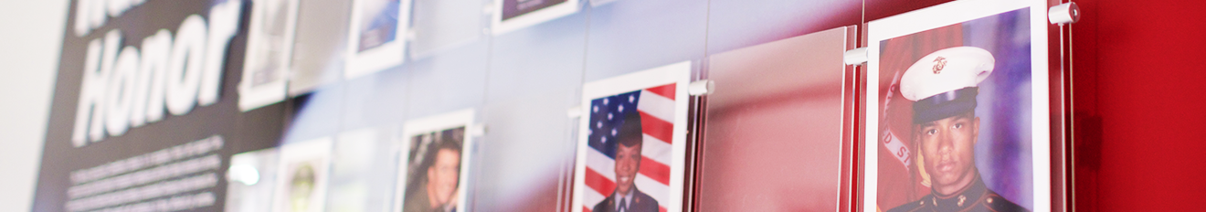 Military Wall of Honor featuring employees and family members that have served and/or continue to serve.